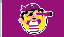 Little Pirate Princess Children's Birthday Party Banner 5'x3' (150cm x 90cm) Flag
